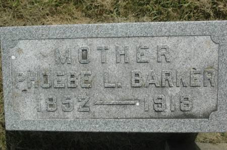 BARKER, PHOEBE L. - Clinton County, Iowa   PHOEBE L. BARKER