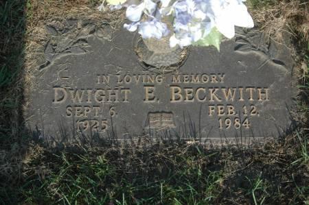 BECKWITH, DWIGHT E. - Clinton County, Iowa   DWIGHT E. BECKWITH