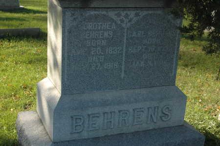 BEHRENS, CARL - Clinton County, Iowa | CARL BEHRENS