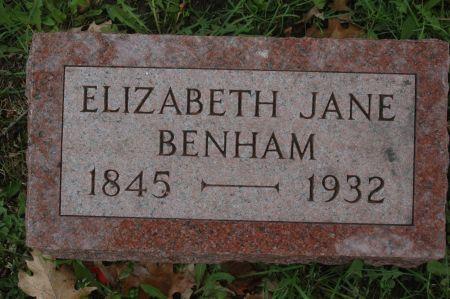 BENHAM, ELIZABETH JANE - Clinton County, Iowa | ELIZABETH JANE BENHAM