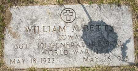 BETTS, WILLIAM A. - Clinton County, Iowa   WILLIAM A. BETTS