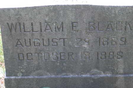 BLACK, WILLIAM E. - Clinton County, Iowa   WILLIAM E. BLACK