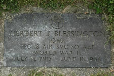 BLESSINGTON, HERBERT J. - Clinton County, Iowa | HERBERT J. BLESSINGTON