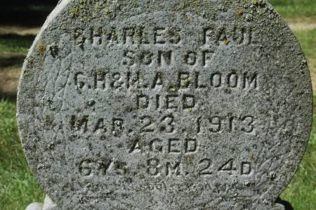 BLOOM, CHARLES PAUL - Clinton County, Iowa   CHARLES PAUL BLOOM
