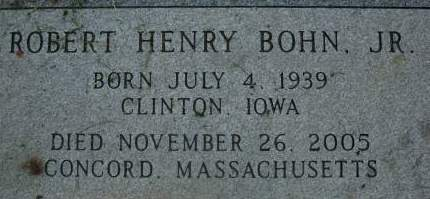 BOHN, ROBERT HENRY JR. - Clinton County, Iowa   ROBERT HENRY JR. BOHN