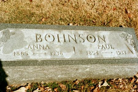 BOHNSON, ANNA - Clinton County, Iowa | ANNA BOHNSON