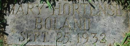 BOLAND, MARY HORTENSE - Clinton County, Iowa | MARY HORTENSE BOLAND