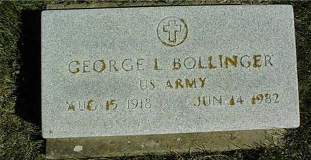 BOLLINGER, GEORGE L. - Clinton County, Iowa | GEORGE L. BOLLINGER