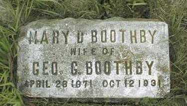 BOOTHBY, MARY D. - Clinton County, Iowa   MARY D. BOOTHBY