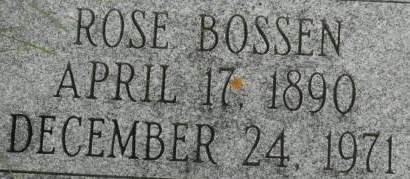 BOSSEN, ROSE - Clinton County, Iowa | ROSE BOSSEN