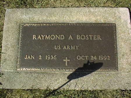 BOSTER, RAYMOND A. - Clinton County, Iowa   RAYMOND A. BOSTER