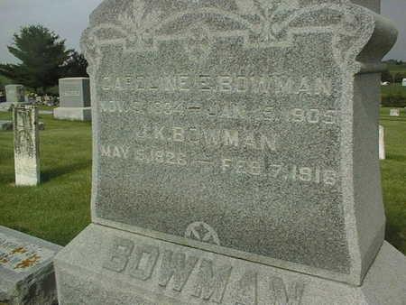 BOWMAN, CAROLINE E. - Clinton County, Iowa | CAROLINE E. BOWMAN