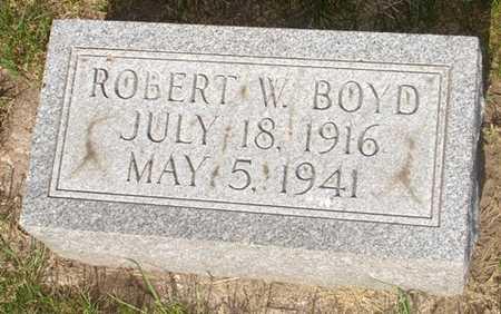 BOYD, ROBERT W. - Clinton County, Iowa   ROBERT W. BOYD