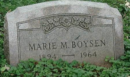 BOYSEN, MARIE M - Clinton County, Iowa | MARIE M BOYSEN