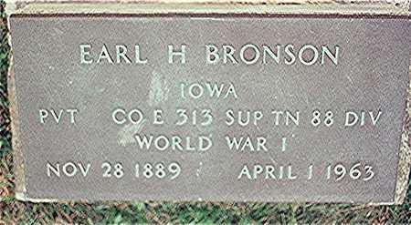 BRONSON, EARL H. - Clinton County, Iowa | EARL H. BRONSON