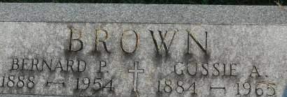 BROWN, BERNARD P. - Clinton County, Iowa | BERNARD P. BROWN