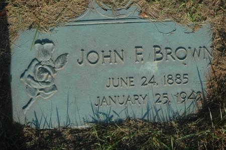 BROWN, JOHN F. - Clinton County, Iowa   JOHN F. BROWN