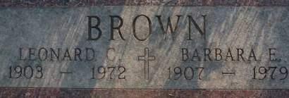BROWN, LEONARD C. - Clinton County, Iowa | LEONARD C. BROWN