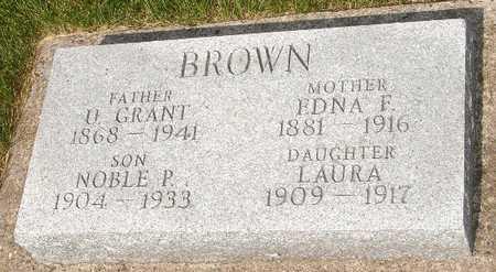 BROWN, O. GRANT - Clinton County, Iowa | O. GRANT BROWN