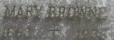 BROWNE, MARY - Clinton County, Iowa   MARY BROWNE