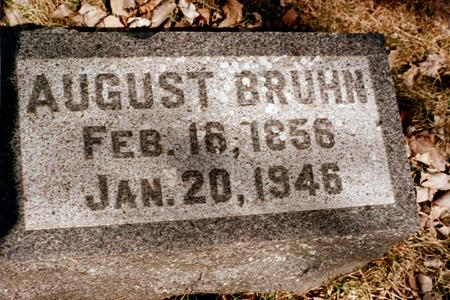 BRUHN, AUGUST - Clinton County, Iowa | AUGUST BRUHN