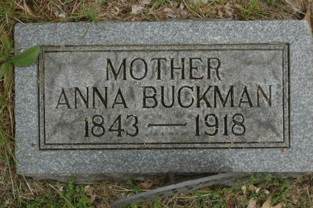 BUCKMAN, ANNA - Clinton County, Iowa   ANNA BUCKMAN