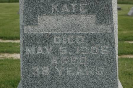 BULGER, KATE - Clinton County, Iowa   KATE BULGER