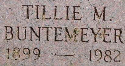 BUNTEMEYER, TILLIE M. - Clinton County, Iowa | TILLIE M. BUNTEMEYER