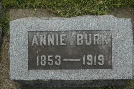 BURK, ANNIE - Clinton County, Iowa   ANNIE BURK