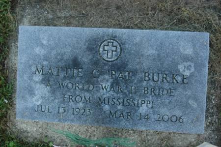BURKE, MATTIE C