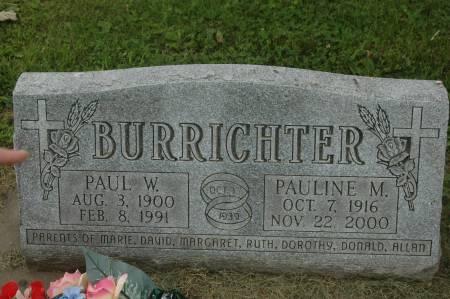 BURRICHTER, PAUL W. - Clinton County, Iowa | PAUL W. BURRICHTER