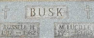 BUSK, M. LUCILLE - Clinton County, Iowa | M. LUCILLE BUSK