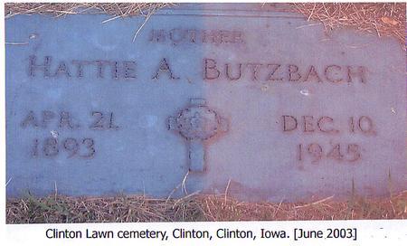 BUTZBACH, HATTIE A. - Clinton County, Iowa | HATTIE A. BUTZBACH