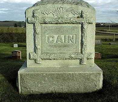 CAIN, FAMILY MONUMENT - Clinton County, Iowa | FAMILY MONUMENT CAIN