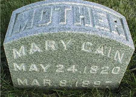 CAIN, MARY - Clinton County, Iowa | MARY CAIN