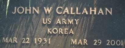 CALLAHAN, JOHN W. - Clinton County, Iowa | JOHN W. CALLAHAN