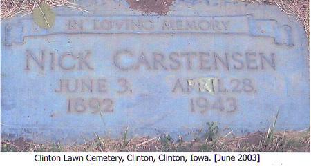 CARSTENSEN, NICK - Clinton County, Iowa   NICK CARSTENSEN