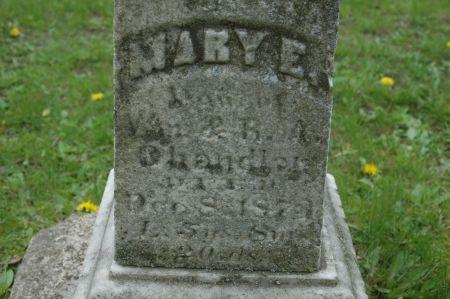 CHANDLER, MARY E. - Clinton County, Iowa | MARY E. CHANDLER