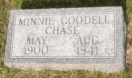GOODELL CHASE, MINNIE - Clinton County, Iowa | MINNIE GOODELL CHASE