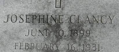 CLANCY, JOSEPHINE - Clinton County, Iowa   JOSEPHINE CLANCY