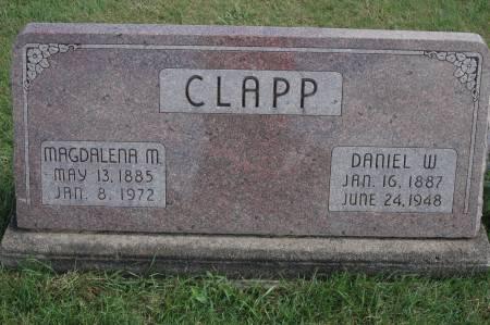 CLAPP, MAGDALENA M. - Clinton County, Iowa   MAGDALENA M. CLAPP