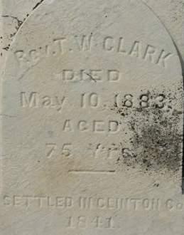 CLARK, T.W. REV - Clinton County, Iowa | T.W. REV CLARK
