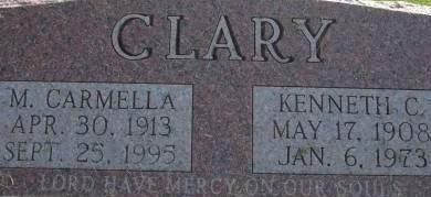 CLARY, M. CARMELLA - Clinton County, Iowa | M. CARMELLA CLARY