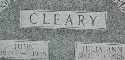 CLEARY, JOHN - Clinton County, Iowa   JOHN CLEARY