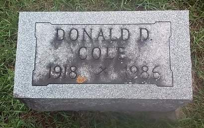 COLE, DONALD - Clinton County, Iowa   DONALD COLE