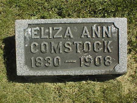 COMSTOCK, ELIZA ANN - Clinton County, Iowa   ELIZA ANN COMSTOCK