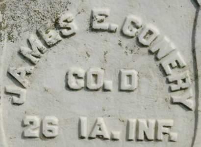 CONERY, JAMES E. - Clinton County, Iowa | JAMES E. CONERY