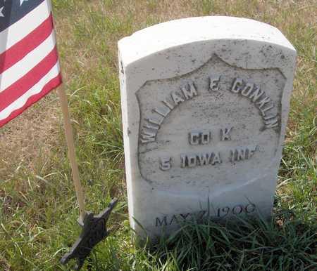CONKLIN, WILLIAM E. - Clinton County, Iowa   WILLIAM E. CONKLIN