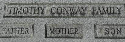 CONWAY, FAMILY MONUMENT - Clinton County, Iowa | FAMILY MONUMENT CONWAY