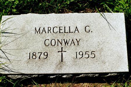 CONWAY, MARCELLA G. - Clinton County, Iowa   MARCELLA G. CONWAY